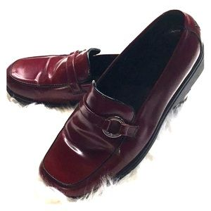 Coach - Red Leather Loafers